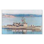 USS EVANS Sticker (Rectangle)