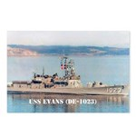 USS EVANS Postcards (Package of 8)