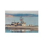 USS EVANS Rectangle Magnet (100 pack)