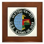 USS EVANS Framed Tile