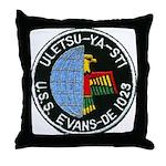 USS EVANS Throw Pillow