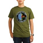 USS EVANS Organic Men's T-Shirt (dark)