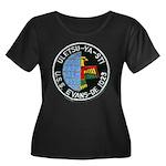 USS EVAN Women's Plus Size Scoop Neck Dark T-Shirt