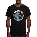 USS EVANS Men's Fitted T-Shirt (dark)