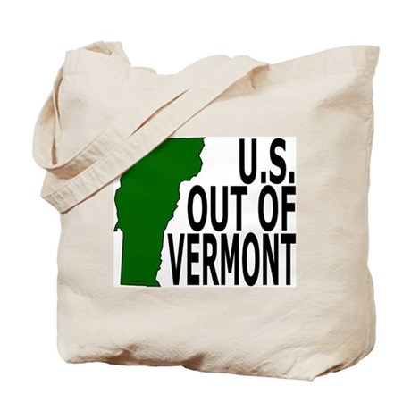 U.S. OUT OF VERMONT Tote Bag