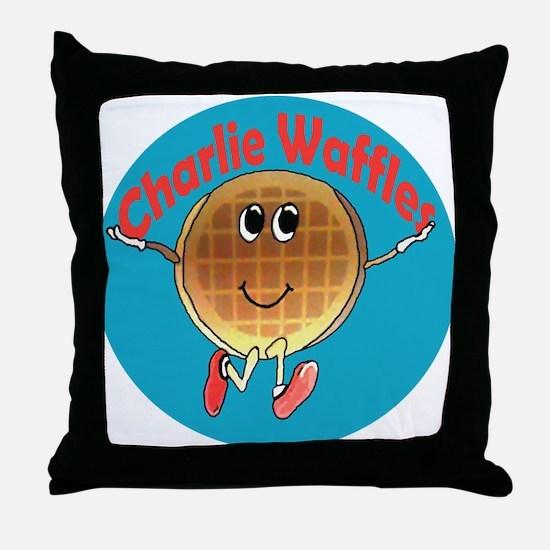 Charlie Waffles Throw Pillow