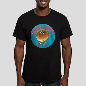 Charlie Waffles Men's Fitted T-Shirt (dark)