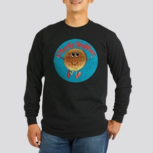 Charlie Waffles Long Sleeve Dark T-Shirt