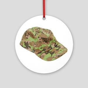 Baseball Hat Ornament (Round)