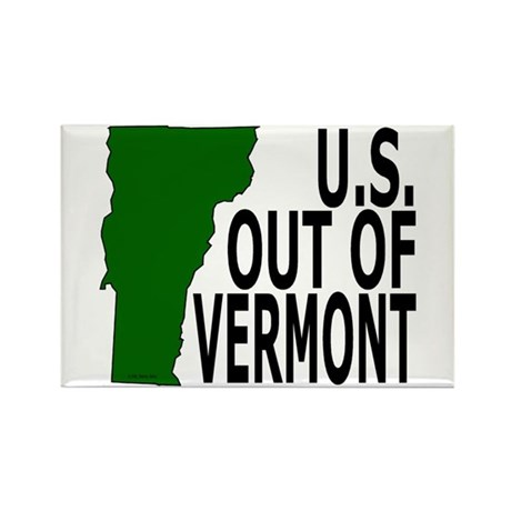 U.S. OUT OF VERMONT Rectangle Magnet