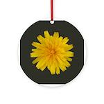 Yellow Flower Keepsake Ornament (Round)