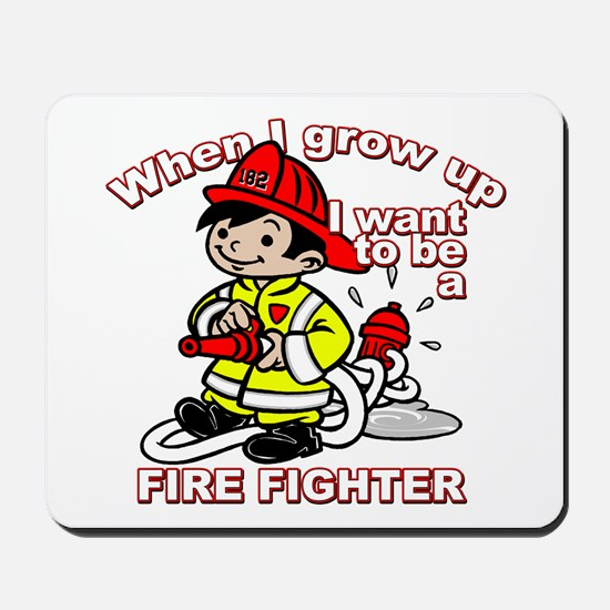 When I grow up Firefighter Mousepad