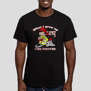 When I grow up Firefighter Men's Fitted T-Shirt (d