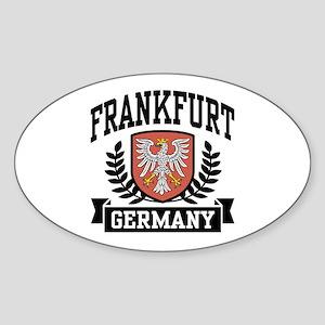 Frankfurt Germany Oval Sticker
