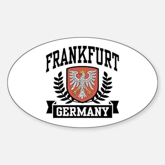 Frankfurt Germany Oval Decal