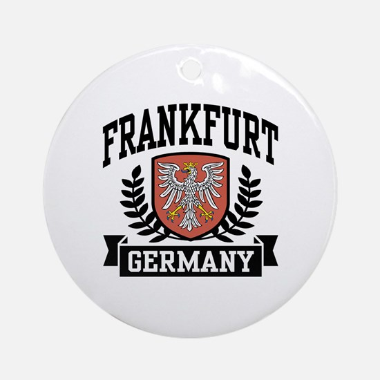 Frankfurt Germany Ornament (Round)