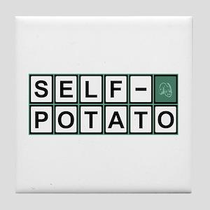 Self Potato Puzzle Solved! Tile Coaster