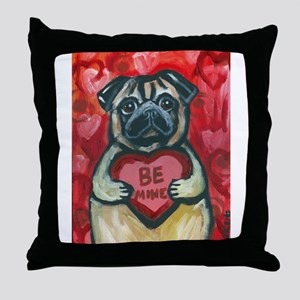 Pug Be Mine~2 Throw Pillow