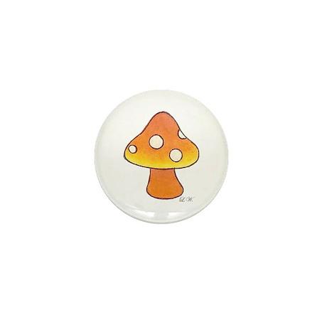 Orange Mushroom Mini Button (10 pack)