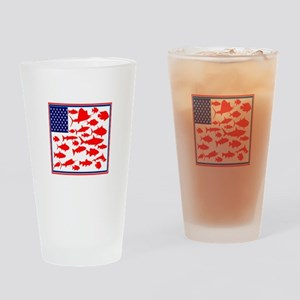 FISH FLAGGED Drinking Glass