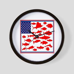 FISH FLAGGED Wall Clock