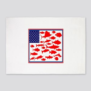 FISH FLAGGED 5'x7'Area Rug