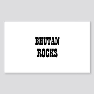 BHUTAN ROCKS Rectangle Sticker