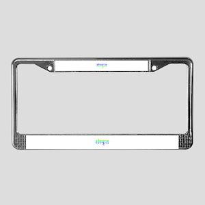 sanskrit License Plate Frame