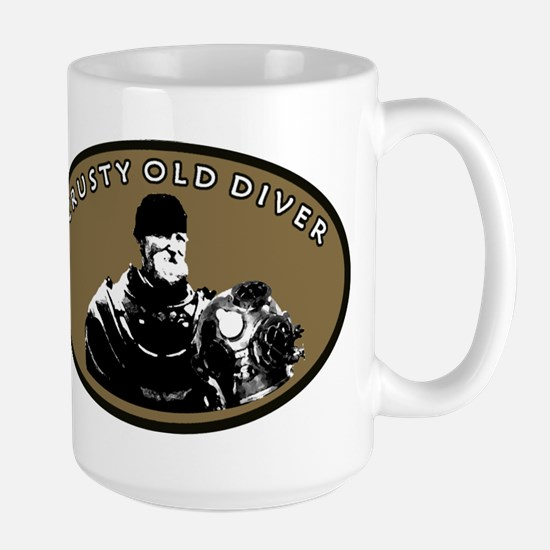 CRUSTY OLD DIVER Large Mug