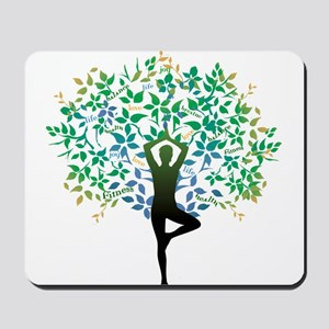 YOGA TREE POSE Mousepad