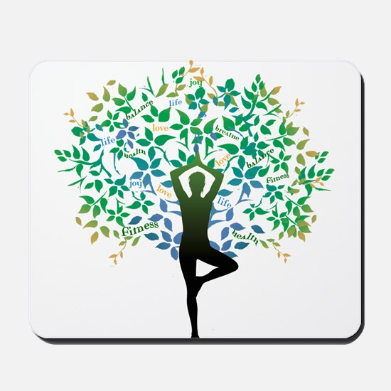 YOGA TREE POSE Mousepad