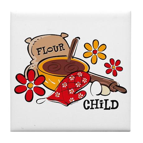 Flour Child Tile Coaster