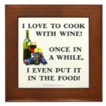 Cooking with Wine Framed Tile
