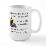 Cooking with Wine Large Mug