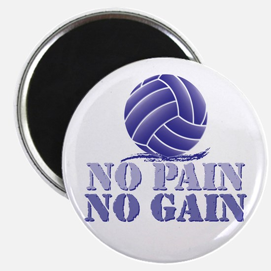No Pain No Gain Volleyball Magnet