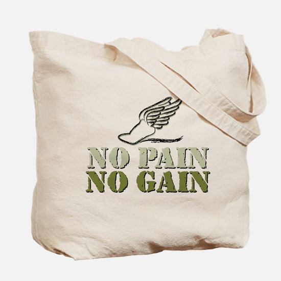 No Pain No Gain Volleyball Tote Bag