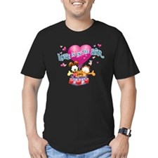Love is in the Air Men's Fitted T-Shirt (dark)