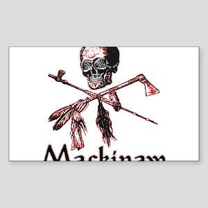 Mackinaw Pirate Rectangle Sticker