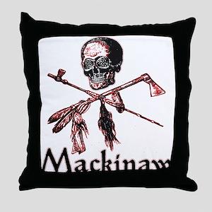 Mackinaw Pirate Throw Pillow