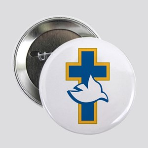 """Dove and Cross 2.25"""" Button (10 pack)"""