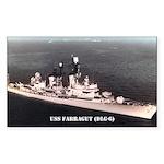 USS FARRAGUT Sticker (Rectangle 50 pk)