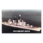 USS FARRAGUT Sticker (Rectangle)
