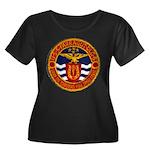 USS FARR Women's Plus Size Scoop Neck Dark T-Shirt
