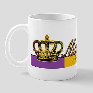 Mardi Gras Flag Crown Mug