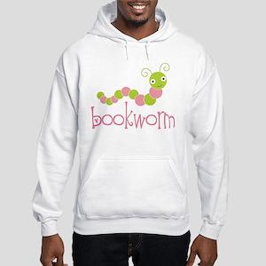 Cute Pink Bookworm Hooded Sweatshirt