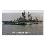 USS FARRAGUT Sticker (Rectangle 50 pk)