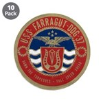 "USS FARRAGUT 3.5"" Button (10 pack)"