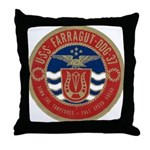 USS FARRAGUT Throw Pillow