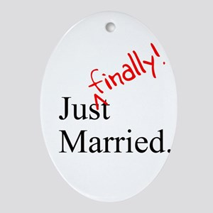 Finally Married Oval Ornament