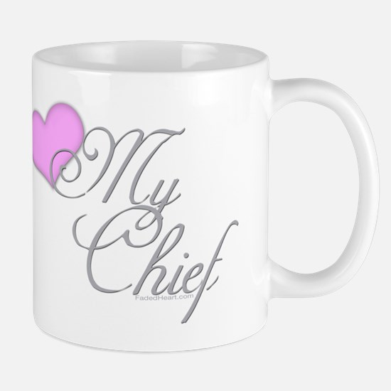 Heart my Chief (Navy Ladies) Mug